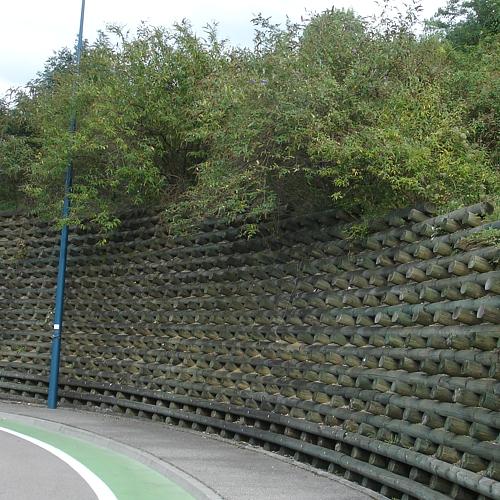 Mur Soutenement Rondin Bois - Bois ronds Girod SA
